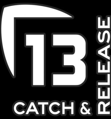 13 Fishing Catch Release Vinyl Decal White