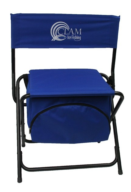 Clam folding cooler chair kabele 39 s trading post for Ice fishing chairs