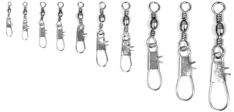Barrel swivel sizes images frompo for Fishing swivel sizes and pound ratings