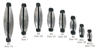 Eagle Claw Rubbercor Sinkers