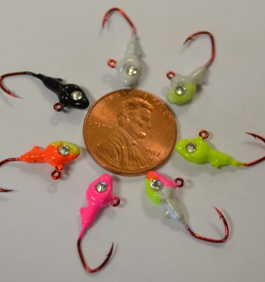 Jigs spoons and plastics page 2 kabele 39 s trading post for Ice fishing plastics