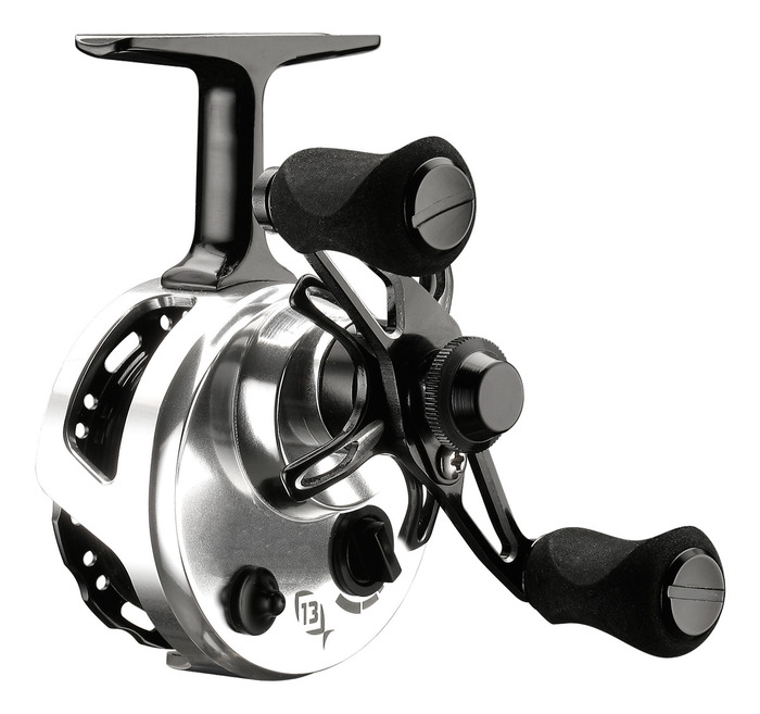 13 fishing black betty 6061 inline reel right hand reel for 13 fishing ice reel
