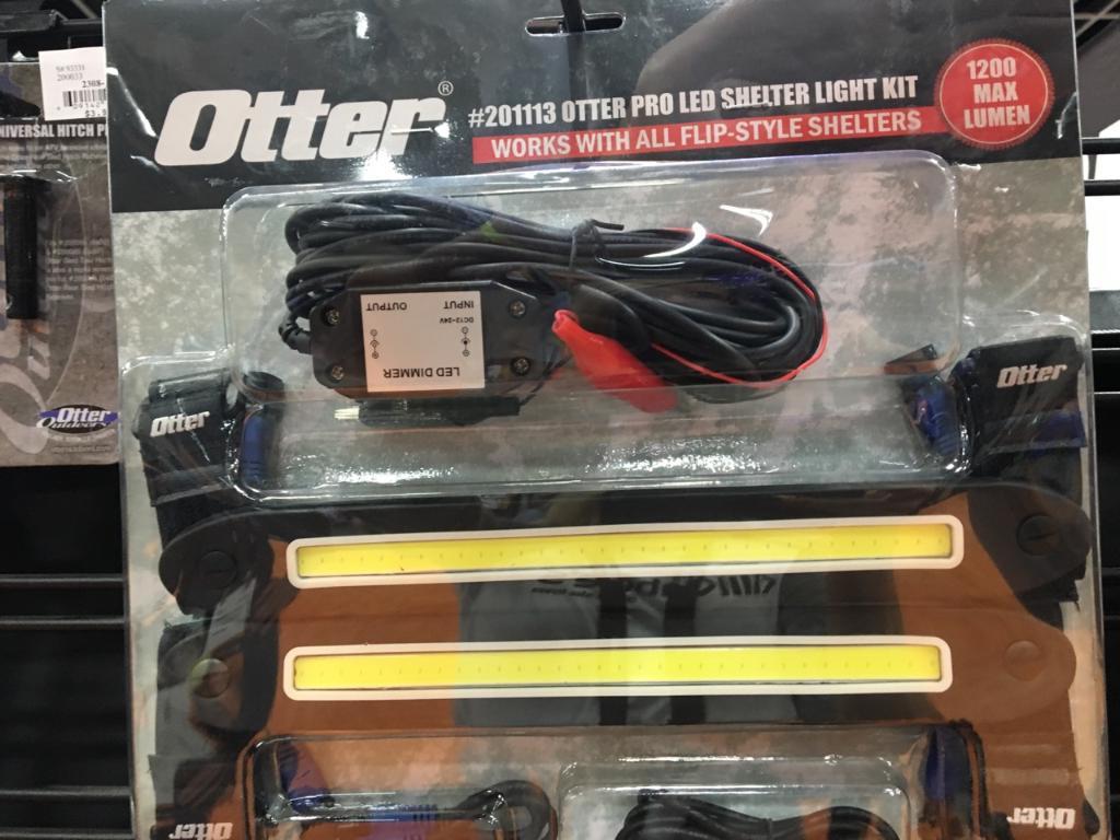 Otter pro led shelter light kit kabele 39 s trading post for Ice fishing house parts
